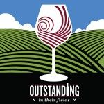 Outstanding in their Fields wine glass