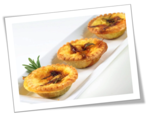 Tartlets with Baluchon and Caramelized Onions