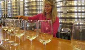 Sue Ann at tasting bar-001