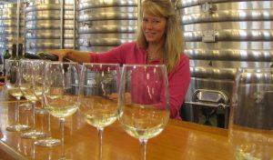 Sue Ann at tasting bar-001