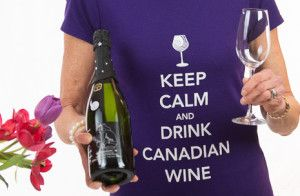 Savvy Company Keep Calm & Drink Canadian Wine t-shirt
