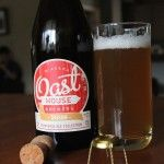 Oast House Saison bottle & glass
