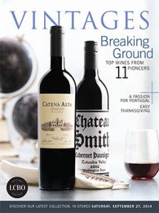 LCBO Vintages magazine Sept 27