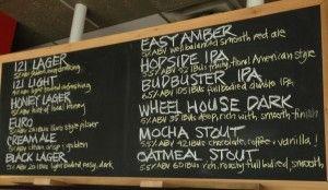 Perth Brewering chalkboard
