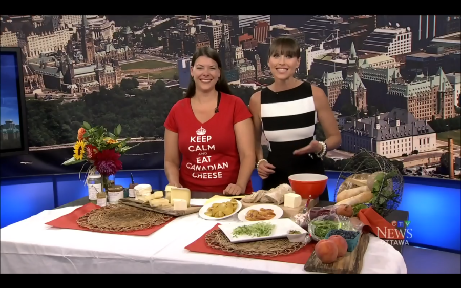 Vaness & Leanne talking local cheese on CTV Aug 22