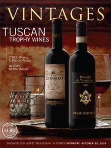 LCBO Vintages magazine Oct25