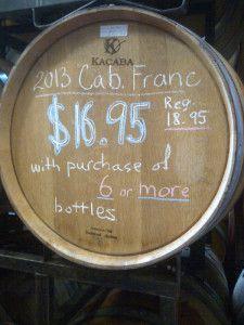 Kacaba Cabernet Franc 2013 Barrel Sample