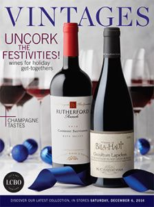 LCBO Vintages magazine Dec 6