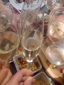 sparkling wine closeup of glasses