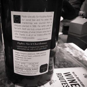 Rosewood's Krystina's wine