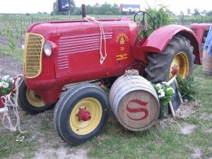 SAS grandfathers tractor - winery camera