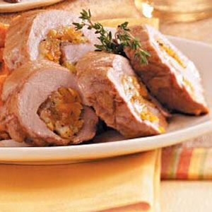 Apricot stuffed pork tenderloin - Taste of Home