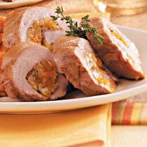 Apricot stuffed pork tenderloin - Taste of Home