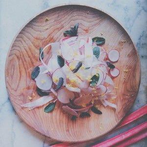 Rhubarb radish salad