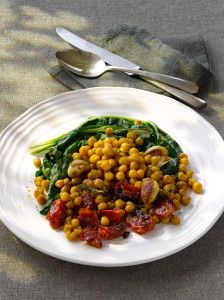 Roasted-Chick-Peas-and-Swiss-Chard
