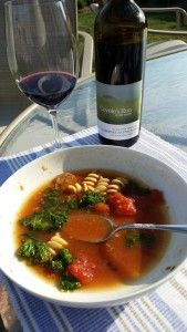 Black Paw Cab Sauv and Sausage Kale Soup