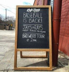 Baseball is back sign