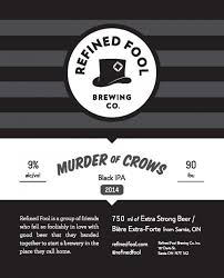 Murder of Crows- Black IPA